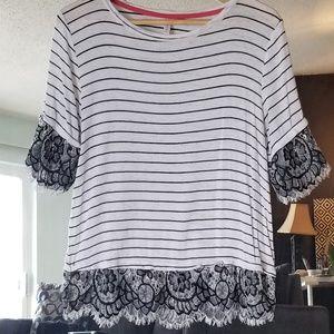 Striped Lace Shirt